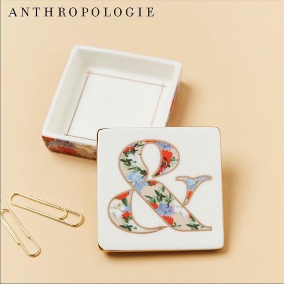 Anthropologie Other - Anthropologie Monogram Lidded Jewelry Box